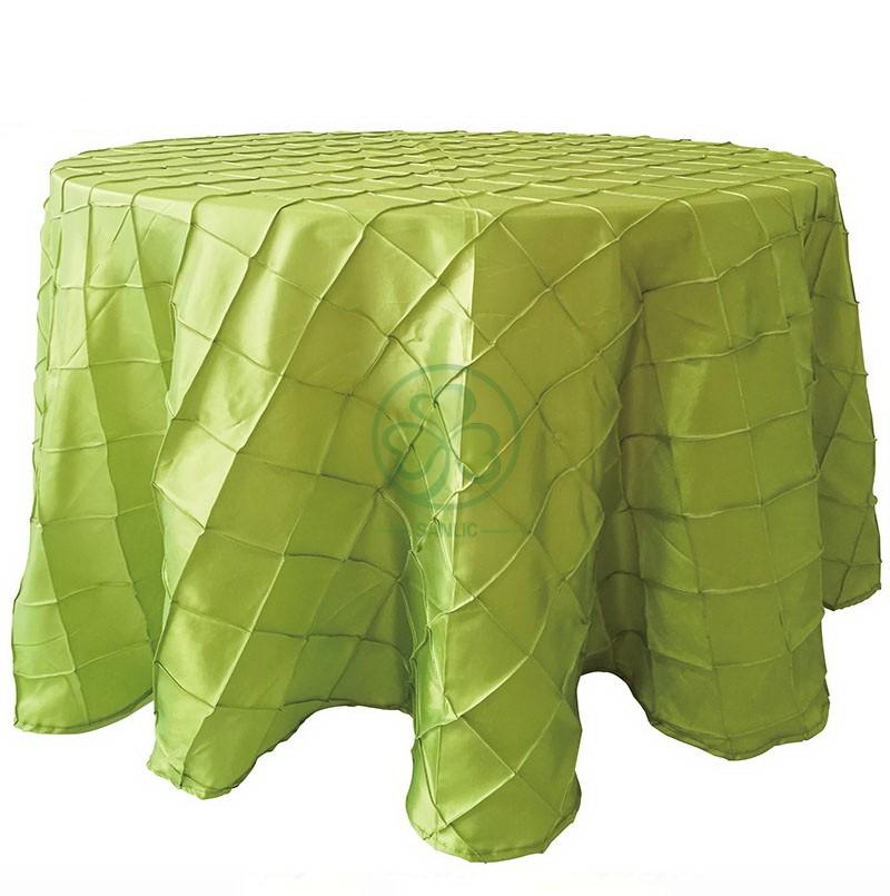 Pintuck Taffeta Table Cloth 009