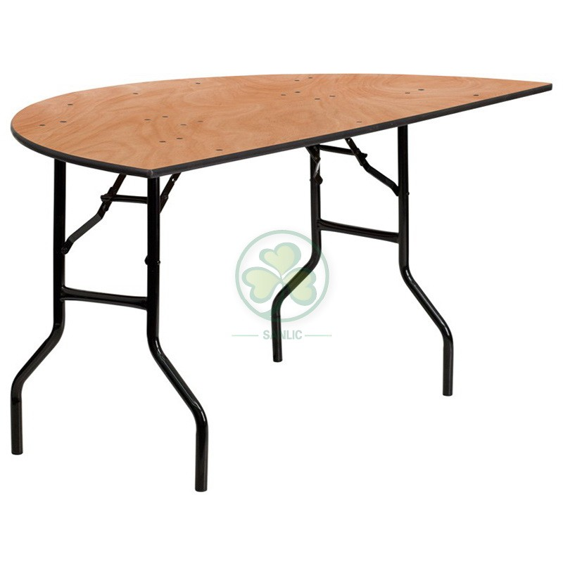 Half Round Folding Table 009