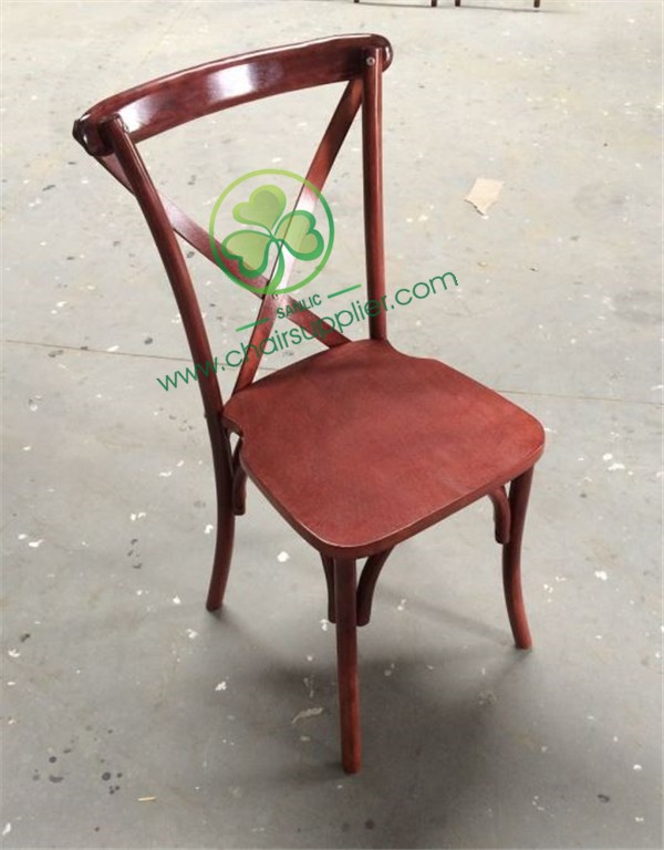 Wooden Cross Back Chair A 045