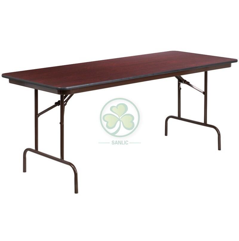 Melamine Laminate Folding Banquet Table 038