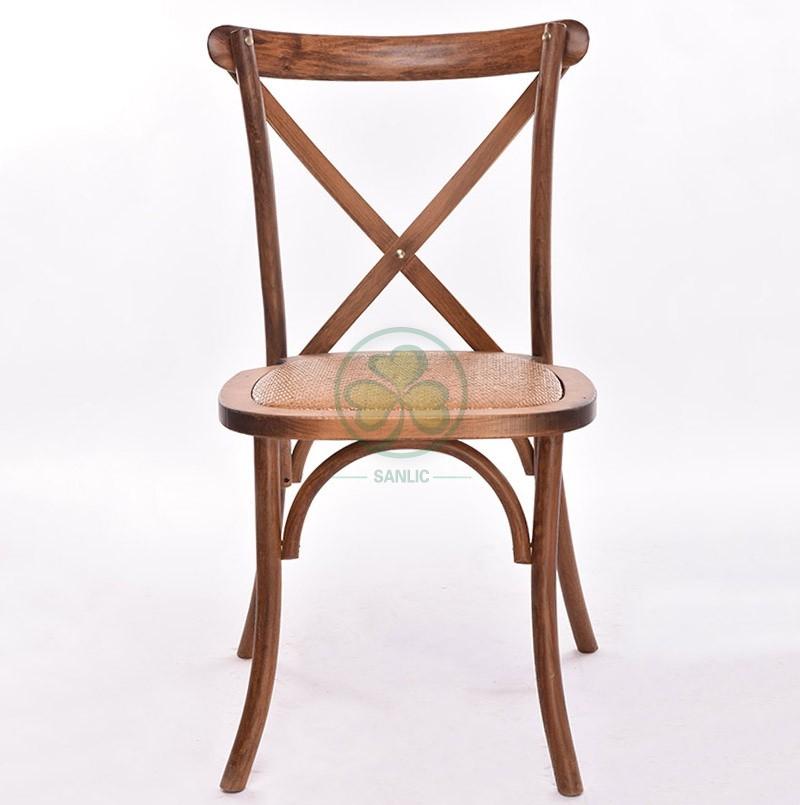 Wooden Cross Back Chair A 047